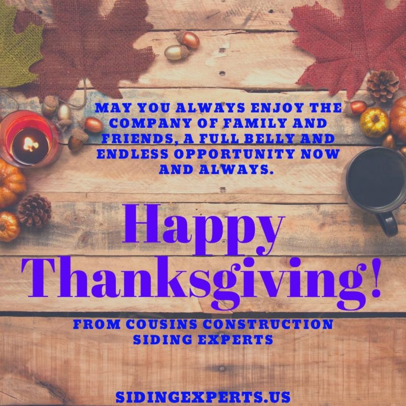 Happy Thanksgiving From Siding Experts