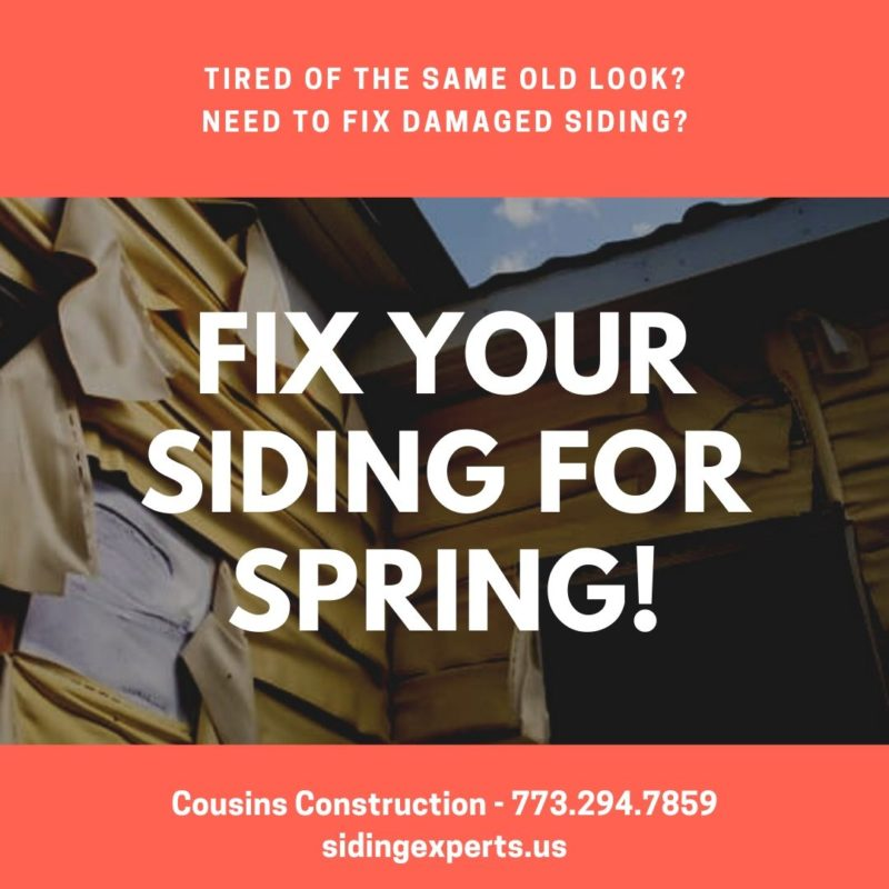 Fix Your Siding For Spring!