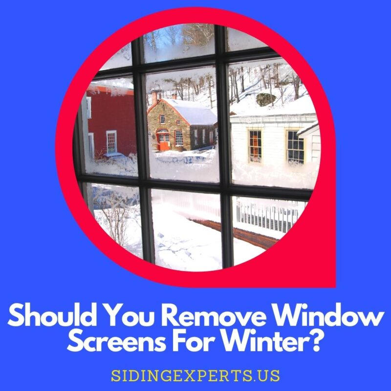 Should You Remove Window Screens For Winter