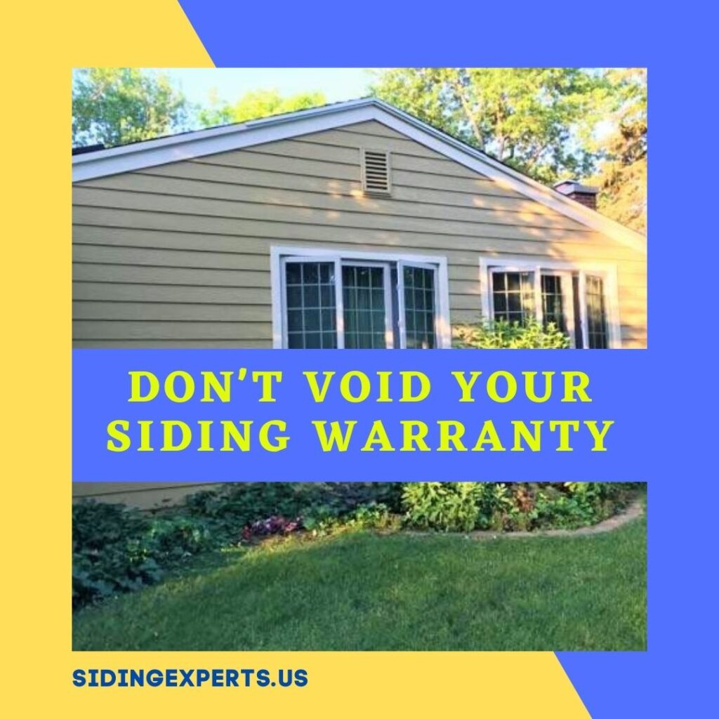 Dont Void Your Siding Warranty