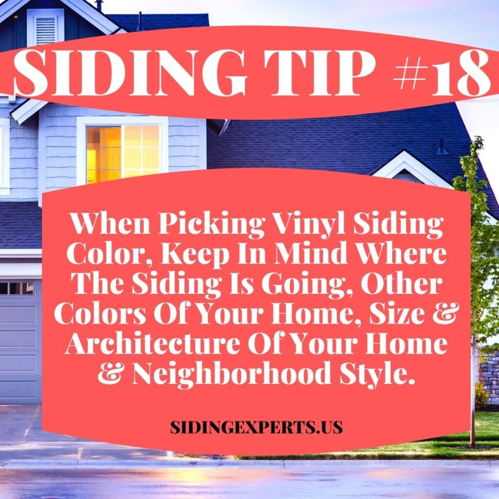 Siding Color Considerations